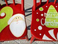 Lake Girl Paints: Whimsical Christmas Chairs