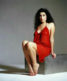 Amy in red.