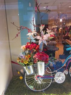 Image result for spring window display with lights