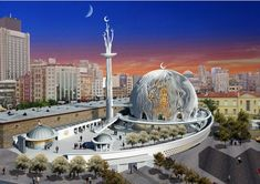 Mosque in Taksim : Turkish Court says it's a must, Turkish people ask why? Mosque Architecture, Futuristic Architecture, Art And Architecture, Beautiful Mosques, Beautiful Buildings, Islamic Center, Turkish People, Famous Places, Architect Design