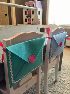 Valentine's Day Chairbacker- Pottery Barn Inspired...only $1 - House of Hargrove Today I show you how to get the  look for less thanks to the Target Dollar Spot!