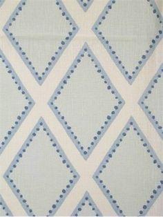 Brookhaven Chambrey | Sarah Richardson for Kravet fabric | blue and white fabrics