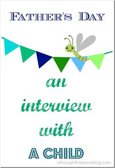 Free printable to interview your little one for Father's Day!