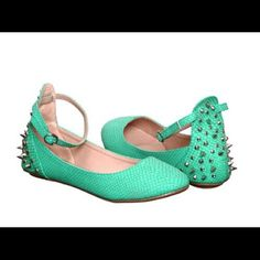 Brand new mint spiked flats ☘ Brand new still in the box! ☘ Shoes Flats & Loafers