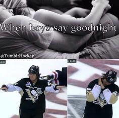 Saying goodnight: hockey edition