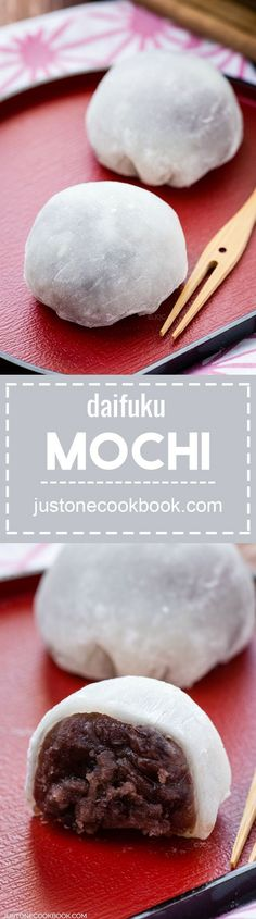 Daifuku Mochi (大福餅) | Easy Japanese Recipes at http://JustOneCookbook.com