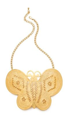 Kenneth Jay Lane Butterfly Necklace l wantering.com