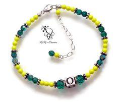 Oregon Ducks, Oregon Ducks Jewelry, Oregon Ducks Bracelet, Ducks, Team Spirit, Football Jewelry, College Football, Sports Team Jewelry