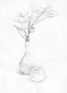 Basic Drawing, Sketch Painting, Ceramic Painting, Art Sketches, Pencil Drawings, Still Life, Art For Kids, Watercolor, Illustration