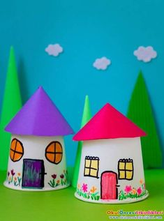 Karton Bardaklardan Ev projesi - OKUL ÖNCESİ ETKİNLİKLERİ - Hayallerinizi Sınırlamayın