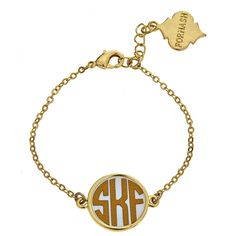 Delicate and dainty, the Soft Chain Monogrammed Bracelet is perfect for those who like a more subtle monogram.