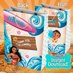 Moana Favor Bag Moana Birthday Party Instant por LythiumArt