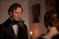 Michael Fassbender & Mia Wasikowska in Jane Eyre Michael Fassbender, Mia Wasikowska, Charlotte Bronte, Jane Eyre 2011, 2011 Movies, Becoming Jane, Recent Movies, Period Dramas, Great Movies