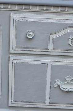 Shabby 2 Uniquely Chic: Chic Linen Grey Nightstands