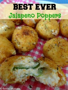 simplify by chopping the jalapenos and adding to the cheese and add crispy bacon.- - simplify by chopping the jalapenos and adding to the cheese and add crispy bacon. Enchiladas, Deep Fryer Recipes, Little Lunch, So Little Time, Appetizer Recipes, Yummy Appetizers, Love Food, Fun Food, The Best