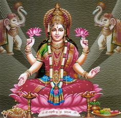 Goddess Lakshmi (Reprint on Card Paper - Unframed)