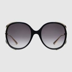 GUCCI Injected Round-Frame Sunglasses.  gucci  women s sunglasses Lunettes  De Soleil Rondes ec08cee3f933