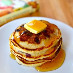 Lemon Blueberry Pancakes from Pioneer Woman