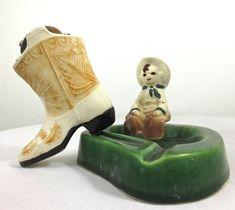 Vintage RELIANCE Novelty Cowboy Boot Ceramic Tabletop Cigarette Lighter-Made in Japan on Etsy, $39.50