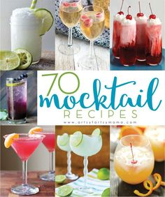 Hosting a party with children or teens? Pregnant? Or have religious restrictions? These 70 non-alcoholic mocktail recipes are sure to quench your thirst and are something everyone of any age can drink! While they can be mixed up anytime of year, I think they would be a delicious addition to any New Year's Eve bash!      1. <em class=short_underline> Cranberry Cutie Mocktail </em>  from This Week for Dinner  2. <em class=short_underline> Mock-Champag</em>...