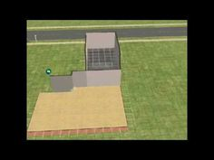 sims 2 how to make an attached garage