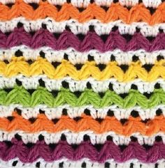 Több színnel horgolt minta - Kötés - Horgolás