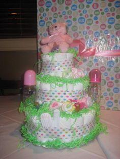 Handmade Diaper Cake  IG: @craftycreationsmf  E: craftycreationsmf@gmail.com