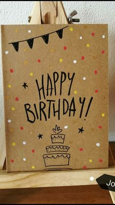 diy birthday cards for friends creative - Creative Birthday Cards, Homemade Birthday Cards, Birthday Cards For Friends, Bday Cards, Happy Birthday Cards, Creative Cards, Birthday Greetings, Homemade Cards, Birthday Gift For Sister
