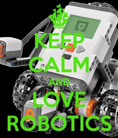The robot in the back is a First Lego League (FLL) lego robot