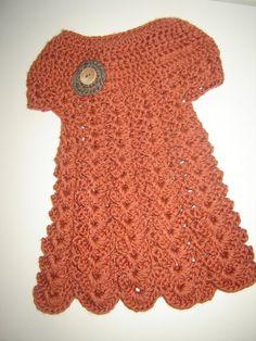 Crochet Toddler Sundress 18 month Size Bamboo by CrochetASmile, $42.00
