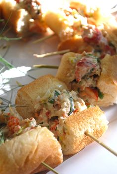 Great idea for how to do my deviled egg shrimp rolls   Blue Mountain Bistro Food and Catering Blog