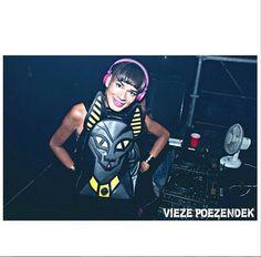 Spotted #dj #covergirlsunny she dares to wear #monocerose #bastet #bag @viezepoezendek on @mysteryland @sunny_jansen_  www.monocerose.com