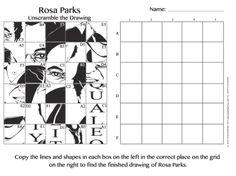 printable grid art worksheets pop art rosa parks free art integration project for kids - Free Printable Art Worksheets