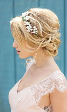 Most Romantic Bridal Updos And Wedding Hairstyles ❤ See more: http://www.weddingforward.com/romantic-bridal-updos-wedding-hairstyles/ #weddings #weddinghairstyles