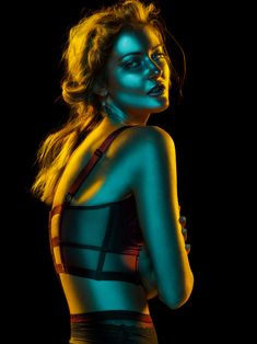 Editorial for Ellements Magazine on Behance Colour Gel Photography, Concept Photography, Light Photography, Creative Photography, Portrait Photography, High Contrast Photography, Photography Aesthetic, Inspiring Photography, Flash Photography