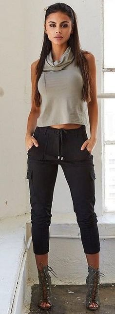 #summer #tigermist #outfits | Grey + Black