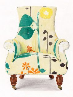 wacky & wonderful ~ Prismacolor markers and some colored pencils on chair from anthropologie.com by 'Y Tang', Hong Kong)