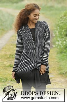 Midnight Roads by DROPS Design. Something different... and a fun knit! Free Pattern#