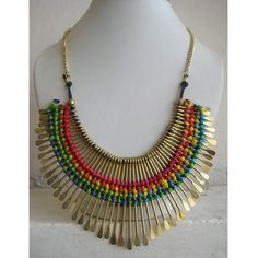 Gold Necklace/Statement Necklace/Bib Necklace/Bubble by FootSoles, $29.90