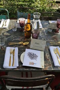 Table setting at Petersham Nurseries