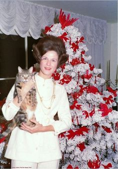 1970S Christmas Decorations | Christmas, 1970. Almost too much Win for one photo. The tree. The hair ...