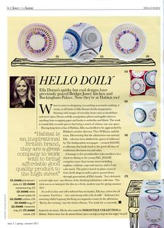 Love your home - Habitat Spring/Summer edition, Joanie pink dessert plate, melamine tray, white dessert plate, mug and runner by Ella Doran