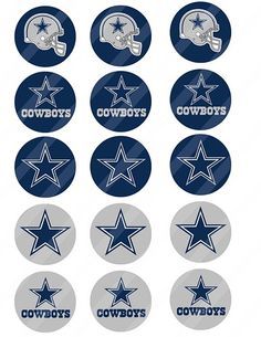 Dallas Cowboys Cupcake Toppers From Printabletreats Com