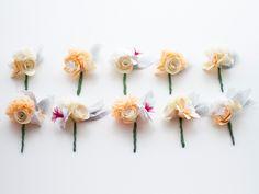 A Paper Flower Wedding Bouquet