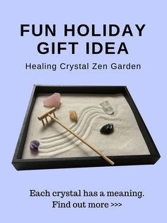 This healing crystal zen garden can help you become more mindful, happy and attract more positive energy.
