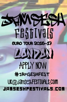 JamSesh Festivals hits #London this October on the #JAMSESHFEST EuroTour'16 covering 22 cities in 33 days across Europe and onto 2016/17 AUS & NewZealand Tour offering ARTISTS discovered along the way an opportunity to join the tour group across the EU, all the way down under and beyond! APPLICATIONS NOW OPEN for artists, vendors & volunteers at JAMSESHFESTIVALS.COM to participate in tech support, coordinating, promoting or to donate a venue or exhibition space email…
