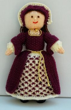 This is Catherine, a Tudor Lady 1546. Catherine is a knitted Tudor doll and is 28cms tall. This pattern is Worked Flat.I have based this doll on the portrait of Princess Elizabeth, 1546, who later became Queen Elizabeth I of England. This portrait is currently part of Queen Elizabeth II's royal collection at Windsor Castle, England. Elizabeth is about 13years old in the portrait, but didn't become queen until she was 25years old after the death of her father, Henry VIII. Elizabeth had plenty…