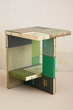 Anthology Side Table on Wanelo- could make this with old books!