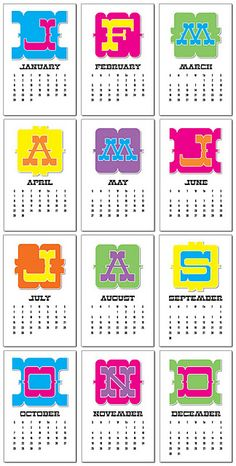 Free Printable 2012 Calendar - Walking the Tightrope