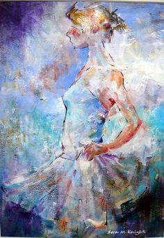 I Am Ready - Ballet Dancer Ready to Peform - Ballet & dance Collection of Art by Surrey Artist Sera Knight - Horsell Woking Surrey England